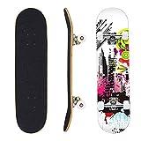 Eseewin Skateboard 7 Strati Decks 31'x8 PRO Skateboard Completo Longboard in Legno di Acero per...