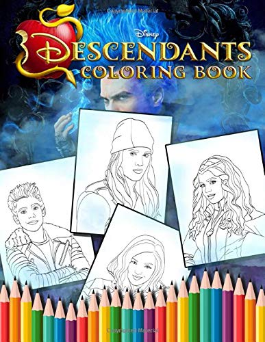 Descendants Coloring Book: Funny Descendants Coloring Books for Kids and Adults - Vol 1