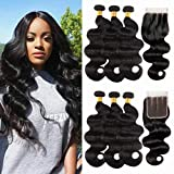 Best Hair Weaves - NUOF 9A Brazilian Body Wave 3Bundles with Closure Review