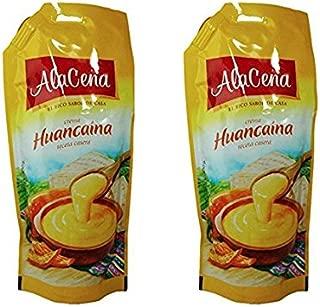 AlaCena Crema Huancaina Receta Casera   Yellow Hot Chilli Cheese Sauce 400 gr. (2 Pack)