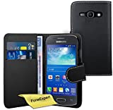 FoneExpert Samsung Galaxy Ace 3 - Etui Housse Coque en Cuir Portefeuille Wallet Case Cover pour Samsung Galaxy Ace 3 s7272 s7270 +...