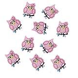 Süßes Mädchen rosa Aufbügelbilder süße Eule Abziehbilder DIY Kleidung Accessoires Nähen...