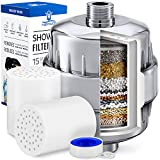 Nepwiz 15 Stage Shower Filter for Hard Water - Shower Water Filter...