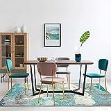 Decomall Alfombra para salón, dormitorio o comedor, diseño abstracto moderno, 160 x 230 cm, color verde