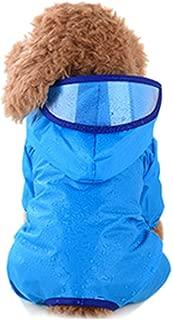 Luck Dawn Dog Hooded Raincoat - Waterproof Lightweight Dog Slicker Puppy Rain Jacket Poncho