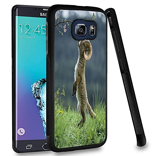 Case Compitable with Samsung Galaxy S6 Edge Plus Goat Design Shockproof Slim Fit Rubber Protective Cover Black Edge Mobile Cellphone
