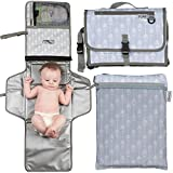 Portable Changing Pad Extra Large | Baby Changing Pad | Travel Diaper Changing Pad | Foldable Baby Changing Station | Bonus Wet-Dry Bag | Portable Changing Mat | Long XL | Cushioned Waterproof Pad