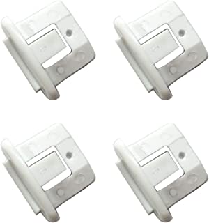 LONYE WD12X10304 Dishwasher Rack Slide End Cap for GE Hotpoint Kenmore Dishwasher WD12X344 AP4484666 PS2370502(Pack of 4)
