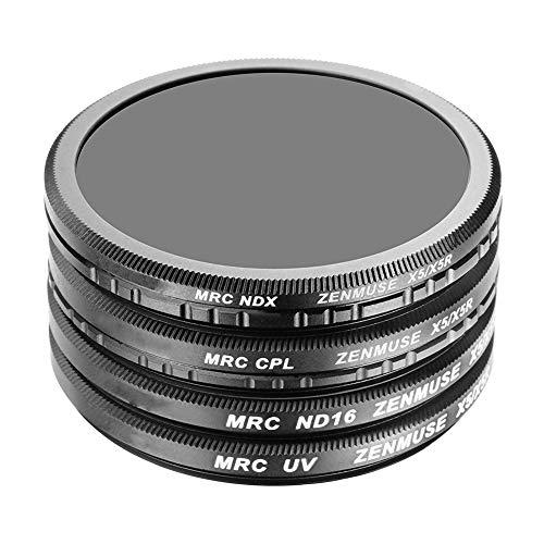 Ansemen UV Filter+ND16 Filter+CPL Filter+ND2-400 Filter für DJI Inspire Zenmuse X5/X5R/X7-4 Stück Hohe Auflösung Multi-beschichtete Optisches Glas Kamera Objektiv Filter