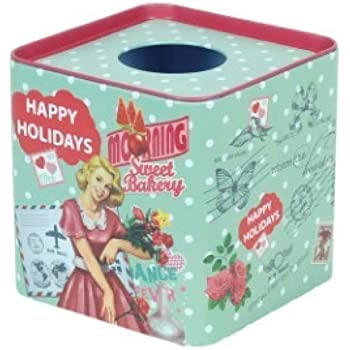 Caja de Pañuelos Vintage Metalica 12 cm: Amazon.es: Hogar