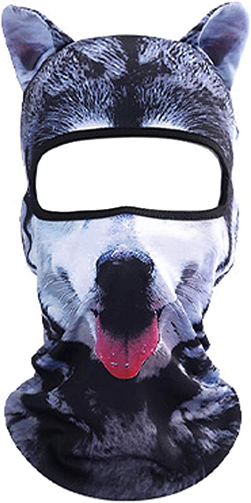 Young_Me Unisex 3D Animal Funny Balaclava Face Mask Cycling Motorcycle Skiing Snowboarding Music Festivals Halloween