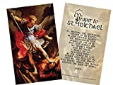 St. Michael the Archangel Holy Card with Prayer Paper Pack of 50