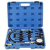 FreeTec 1000psi Kit de Herramientas de Prueba de medidor de presión de compresión del Motor Diesel Directo e indirecto Compatible con Nissan