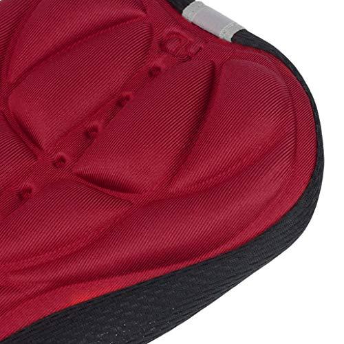 Bicicleta 3D silicona gel Pad Seat funda de sillín cojín flexible negro para el ejercicio aeróbico como la formación de velocidades, la formación de resistencia y la sala de fitness. talla única