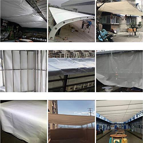 Vele parasole CJC Tarps Impermeabile Robusto 550 gsm Tenda A Terra Copertura del Rimorchio A più Strati Telone in Molte Dimensioni E Spessori (Color :