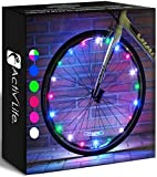 Activ Life LED Bicycle Wheel Lights (2 Tires, Multicolor) Best for Kids, Top Stocking Stuffers of 2021 Popular Gifts for Children Exercise Toys - Child Bday Party Outdoor Family Fun