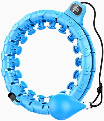 mjj Hula Hoop Fitness para adultos | Auto Spinning Hoop datos de grabación inteligente, nunca se cae, ejercicio Hula Hoop 24 secciones desmontables