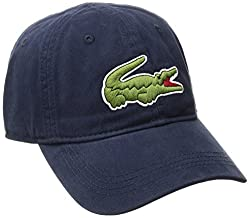 in budget affordable Lacoste Men's Classic Big Crocoga Baldin Cap Baseball Cap, Navy Blue, One Size