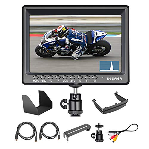 Neewer F200 Field Monitor Ultra-thin 7 inches IPS Screen 1080P Full HD 1920x1200 support 4k input HDMI with Histogram, Focus Assist, Overexposure Prompting for DSLR Camera (Battery not included)