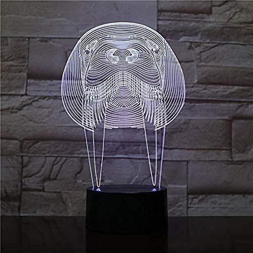 Luz de noche 3D gallo luz de noche 3D pollo luz 3D animal lámpara de mesa LED interruptor táctil colorido iluminación del sueño del bebé decoración del hogar
