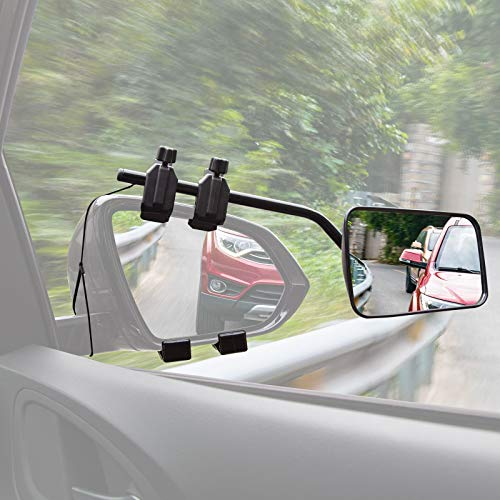 CARTMAN Universal Clip-on Trailer Towing Mirror, 1PK