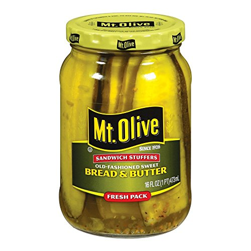 MT. OLIVE Sandwich Stuffers, Bread & Butter Jar, 16 oz