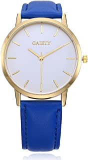 naivo Women's Quartz Stainless Steel and Gold Plated Watch, Color:Blue (Model: 1)