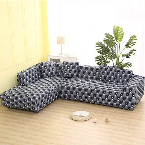 KTUCN Sofa Schonbezüge, 2 STK. Bezüge für Ecksofa Elastische Abdeckung Sofa für Wohnzimmer Couch Schonbezug Stretch L-förmiges Sofa, 4, 1seater and 1seater