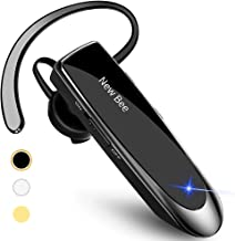 New bee Bluetooth Earpiece Wireless Handsfree Headset 24 Hrs Driving Headset 60 Days Standby Time With Noise Cancelling Mic Headsetcase for iPhone Android Samsung Laptop Truck Driver