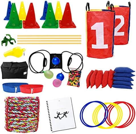 FERS Obstacle Course Set Relay Race Games Summer Camp Activities Ring Toss Birthday Party Games product image