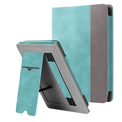 Fintie Custodia per Kobo Clara HD 2018 - Stand Cover Protettiva Case con Card Slot e Hand Strap, Funzione Auto Sveglia/Sonno, Denim Turquoise
