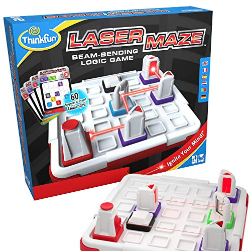 Think Fun Laser Maze (Class 1) Brain Game and STEM Toy for Boys and Girls Age 8 and Up – Award Winning and Mind Challenging Game for Kids (44001014)
