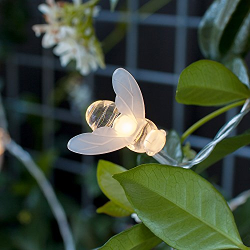 20er Solar LED Bienen Lichterkette warmweiß Lights4fun