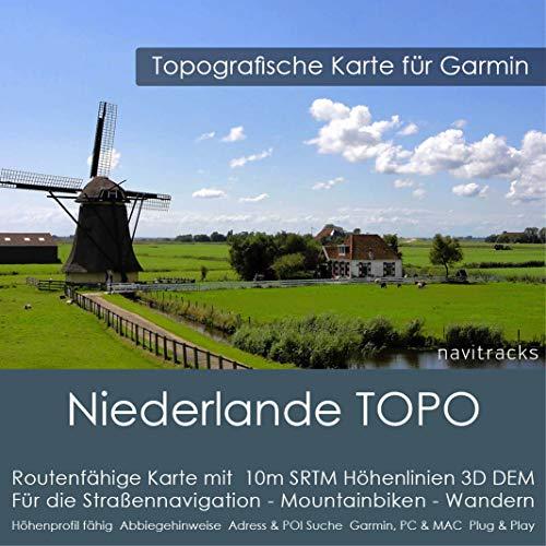 Países Bajos Garmin Tarjeta Topo 4GB MicroSD. Mapa Topográfico de GPS Tiempo Libre para Bicicleta Senderismo Excursiones Senderismo Geocaching & Outdoor. Dispositivos de Navegación, PC &a
