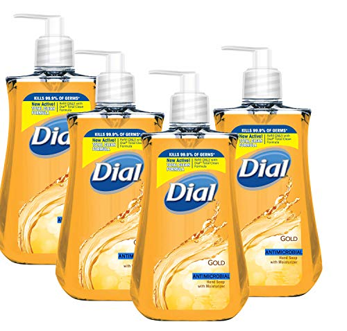 Dial Professional Original Gold Antimicrobial Liquid Hand Soap, 7.5 Ounce (Pack of 4)