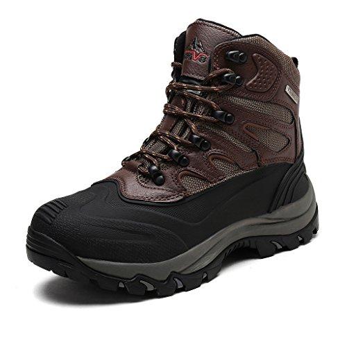 arctiv8 Men's Nortiv8 161202-M Dk.Brown Black Insulated Waterproof Work Snow Boots Size 12 M US