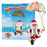 Poupée de Parachute du père noël, père noël électrique simulé, Jouet Volant de Noël intertsting, Haute qualité Non Toxique pour la décoration de Noël(Electric Hula Hoop Skydiving Elderly)