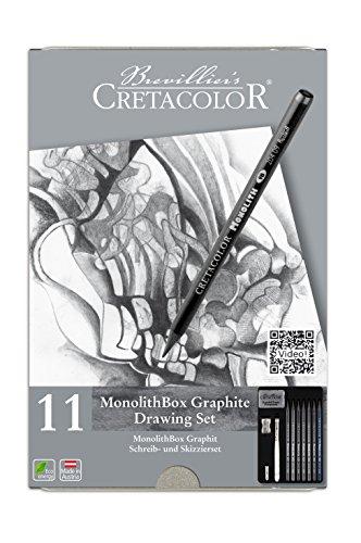 Cretacolor 20430–Monolith Set, 11piezas con goma de borrar y sacapuntas