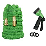 Lawnite Expandable 150ft Garden Hose with 8 Function Nozzle, Durable Flexible Water Hose, Lightweight Expanding Garden Water Hose with 3/4' Solid Brass Connectors, Best Choice for Watering and Washing