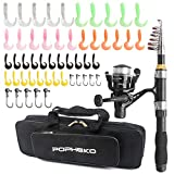Best Compact Fishing Rod And Reels - Telescopic Fishing Rod Reel Full Kit Fishing Line Review