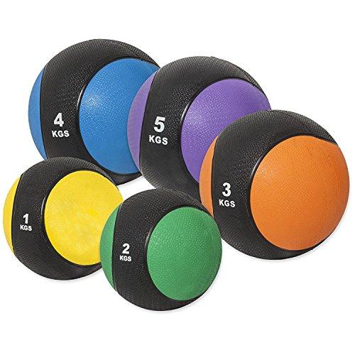 GORILLA SPORTS® Medizinball Gummi 5kg – Fitnessball Lila rutschfest