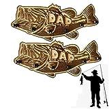 Soporte de caña de pescar para lubina de boca grande de madera, soporte para caña de pescar montado en la pared,soporte para caña de pescar con soporte para 6 cañas,equipo de pesca de bricolaje (2pcs)