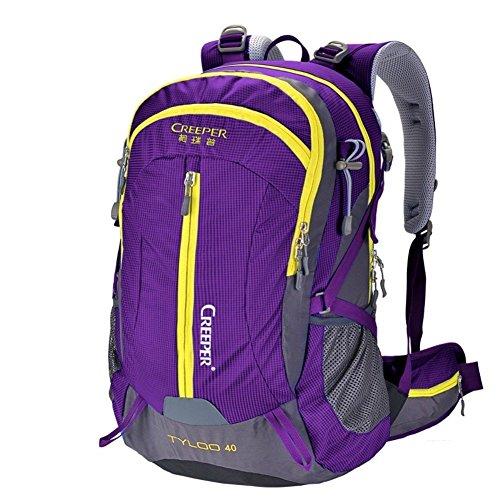 Backpack éclairage d'alpinisme/Sac extérieur étanche Sac à Dos/Sac à Dos randonnée/Camping Package-Purple 50L