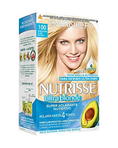 Garnier Nutrisse Creme Coloración Nutritiva Permanente, Tinte 100% Cobertura de Canas con...