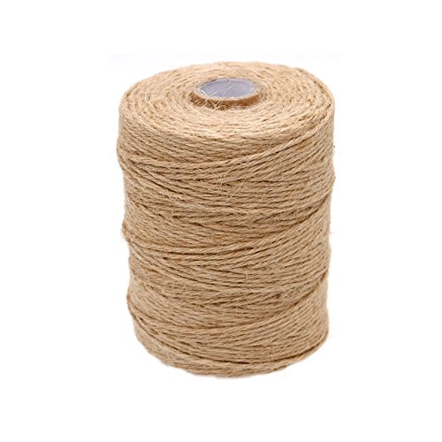 656 Feet Natural Jute Twine Fathers Day Gift Twine 2mm Jute Twine String 3Ply Arts Crafts Jute Rope for Gift Wrap DIY Decoration