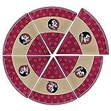 Supreme Housewares NCAA Florida State Pizza Plate (Set of 6), Gold/Garnet