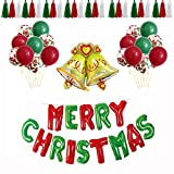Omenluck 1 Set de Decoración de Navidad Globo Conjunto KTV Hotel Fiesta Lugar Decoración Santa Claus Aluminio Película Globo