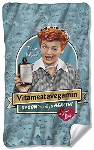 I Love Lucy - Vitameatavegamin Fleece Blanket 35 x 57in by I Love Lucy