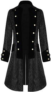 Modaworld Cappotto Lungo degli Uomini, Cappotto Lungo da Uomo Steampunk Gothic Vintage Giacca Uomo Inverno Caldo Vintage F...