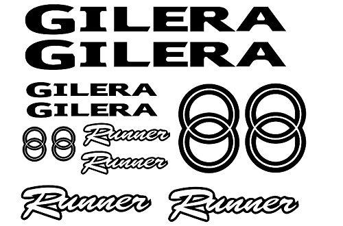 SUPERSTICKI Gilera Runne Set ca 30cm Motorrad Aufkleber Bike Auto Racing Tuning aus Hochleistungsfolie Aufkleber Autoaufkleber Tuningaufkleber Hochleistungsfolie für alle glatten Flächen UV